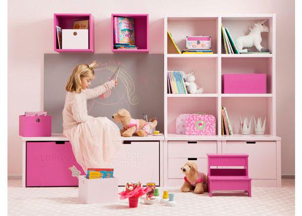 <p>Zona de juegos para habitación infantil en madera de haya. Programa es completamente modular yacabado en lacas texturadas.</p>