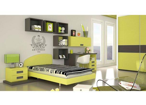 Dormitorio juvenil donde tus prioridades son lo primero, ya sea en el armario, en la zona de estudio o en el tamaño de tu cama.