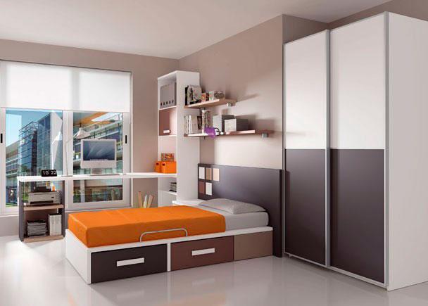 <p>Dormitorio juvenil compuesta por cama canap&eacute; con 2