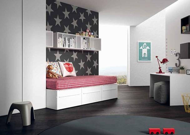 <p>Dormitorio infantil con cuna convertible convertible de la serie CUBO. Las cunas convertibles CUBO son adaptables, seguras, accesibles y modernas.</p>