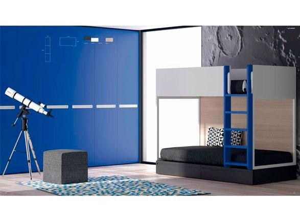 <p>Presentamos un modelo de Litera de l&iacute;neas rectas, sencillas y elegantes que puedes combinar con un armario de nuestra serie No Limits.</p>