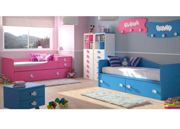 Dormitorio bebé que presenta una novedosa cama nido convertible para ese tramo de edad en el que el mercado no ofrece alternativas.