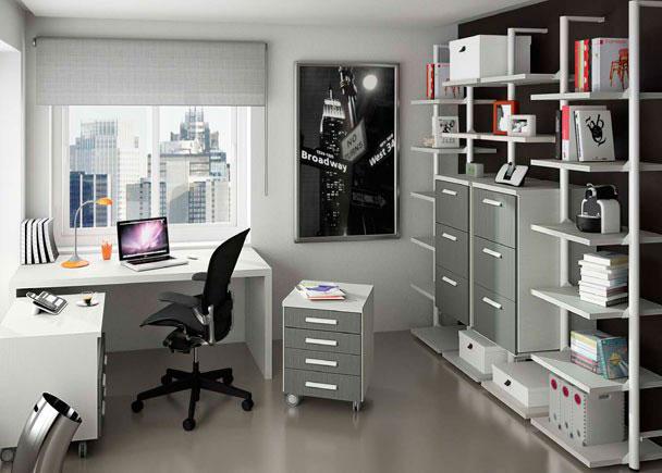 <p>Despacho dom&eacute;stico completamente modular que podemos adaptarlo seg&uacute;n nuestras necesidades, tanto en medidas, disposici&oacute;n, m&oacute;dulos, estantes, colores y tira</p>