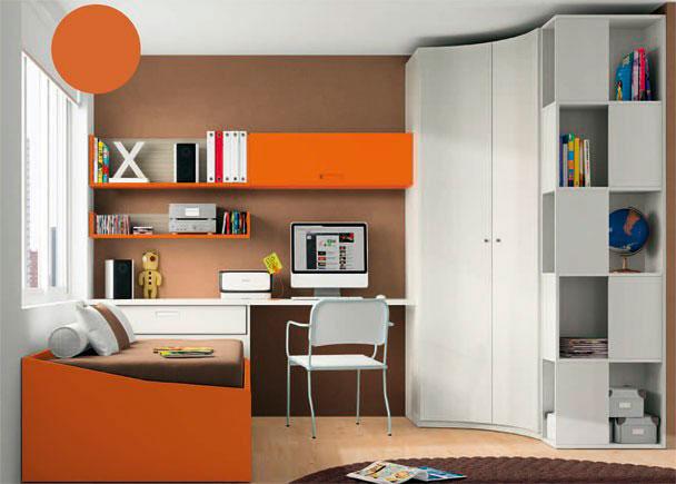 <p>Junto al armario, hemos añadido un armario librería terminal tipo damero, con huecos accesibles desde cualquiera de sus lados vistos.</p>