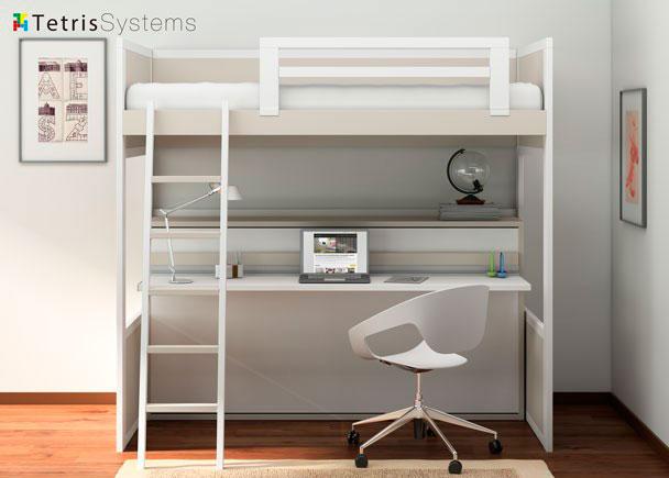 <p>Litera y cama abatible inferior con mesa integrada diseñada para quien busca diseño exclusivo y romántico sin renunciar a las ventajas de camas abatibles</p>