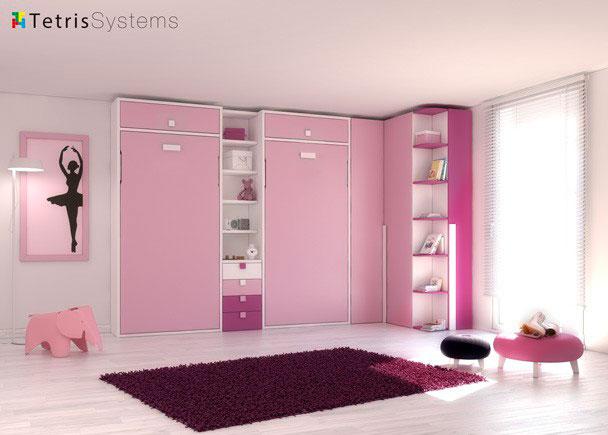 <p>Habitaci&oacute;n ideal tanto si es para invitados como para dormitorio de uso diario gracias a las camas abatibles verticales.</p>