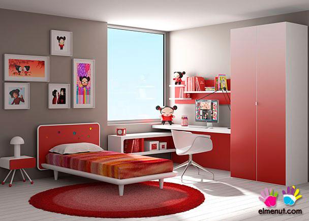 <p>Divertida habitación juvenil equipada con una novedosa propuesta de muebles modulares en la que las combinaciones de color marcan un nuevo orden.<br /><br />Los elementos que aparecen en la presente imagen son los siguientes:</p> <p></p> <p>-Mesita de 1 cajón de caja curva modelo COMPÁS. Medidas: 42 x 45 x 42<br />-Cama con bastidor de aro modelo COSMOS para somier de 90 x 190. Ancho Respaldo 119 (colchón 90) y 131 (somier de 105) x 86 h x 207 x 26 h (altura bastidor) <br /><br />***NOTA***<br />Este modelo se fabrica también para somieres de 180 y 200 y anchos de colchón de 90 y 105 (Somier no incluído)<br />-Escritorio plus con panel inferior. <br />Medidas: 180 x 55<br />-Armario de 2 puertas modelo LINE. <br />Medidas: 100 x 58 F x 236 h<br /><br />OPCIONES CON INCREMENTO:<br /><br />-Estantería horizontal de pared modelo COMPÁS. Medidas: 150 x 35<br />-Opción dos colores en estantería horizontal modelo COMPÁS<br />-Panel pared con 3 estantes modelo COMPÁS. Medidas: 44 x 150 x 23<br />-Opción puerta degradada</p>