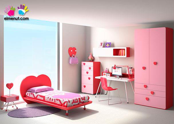 <p>Divertida habitaci&oacute;n juvenil equipada con una novedosa propuesta de muebles modulares en la que las combinaciones de color marcan un nuevo orden.<br /><br />Los elementos que aparecen en la presente imagen son los siguientes:<br /><br />-Mesita de 1 caj&oacute;n de caja curva modelo COMP&Aacute;S. Medidas: 42 x 45 x 42<br />-Cama con bastidor de aro modelo LOVE para somier de 90 x 190. Ancho Respaldo 130 (colch&oacute;n 90) y 145 (somier de 105) x 88 h x 204 x 26 h (altura bastidor) <br />***NOTA*** <br />Este modelo se fabrica tambi&eacute;n para somieres de 180 y 200 y anchos de colch&oacute;n de 90 y 105 (Somier no inclu&iacute;do)&nbsp;<br />-M&oacute;dulo sinfonier con ruedas de 3 cajones + 2 contenedores modelo COMP&Aacute;S. Medidas: 128 x 60 x 45 F&nbsp;<br />-Escritorio SWIN de 140 x 65 F&nbsp;<br />-Armario de 2 puertas modelo &Oacute;RBITA con sinfonier &nbsp;derecho de 3 cajones + 2 contenedores. Medidas: 90 &nbsp;x 58 F x 236 h&nbsp;<br /><br />OPCIONES CON INCREMENTO:<br /><br />-Incremento por costado armario curvo<br />-Perchero modelo LOVE de 42 x 42<br />-Colgante horizontal de 150 con 1 puerta elevable + &nbsp;1 hueco derecho.</p>
