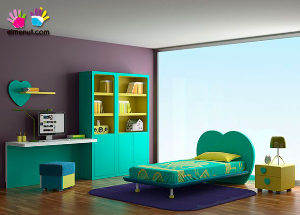 <p>Divertida habitaci&oacute;n juvenil equipada con una novedosa propuesta de muebles modulares en la que las combinaciones de color marcan un nuevo orden.<br /><br />Los elementos que aparecen en la presente imagen son los siguientes:<br />-Escritorio modelo PLUS con panel inferior. Medidas: &nbsp;150 x 55 F&nbsp;<br />-Librer&iacute;a modelo COMP&Aacute;S con 1 puerta &nbsp;izquierda.Medidas: 198 h x 60 de ancho x 41 F<br />-Librer&iacute;a modelo COMP&Aacute;S de 2 puertas.<br />&nbsp;Medidas: 198 h x 90 de ancho x 41 F&nbsp;<br />-Cama con bastidor de aro modelo LOVE para somier &nbsp; de 90 x 190. Ancho Respaldo 130 (colch&oacute;n 90)<br />y 145 (somier de 105) x 88 h x 204 x 26 h (altura bastidor) <br />***NOTA***<br />Este modelo se fabrica tambi&eacute;n para somieres de 180 y 190 y anchos de colch&oacute;n de 90 y 105 (Somier no inclu&iacute;do)&nbsp;<br />-M&oacute;dulo de 2 cajones con ruedas modelo COMP&Aacute;S. Medidas: 43 x 40 x 45&nbsp;<br /><br />OPCIONES CON INCREMENTO:&nbsp;<br /><br />-Opci&oacute;n dos colores en Librer&iacute;a COMP&Aacute;S.<br />-Estante de pared modelo LOVE izquierdo de 75 cm<br />-Pouff MAGIC de 40 x 40 x 40 (Opciones de color en &nbsp;Morado-Tango y Mandarina)<br />&nbsp;</p>