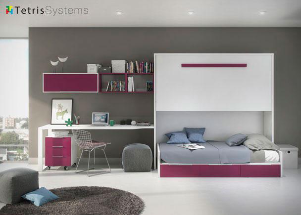 """<h2>Cama alta con nido</h2> <p style=""""text-align: justify;"""">Este ambiente rompe con la idea preconcebida de que las <strong>habitaciones compartidas</strong> tienen que tener dos camas iguales.&nbsp;&nbsp;</p>"""