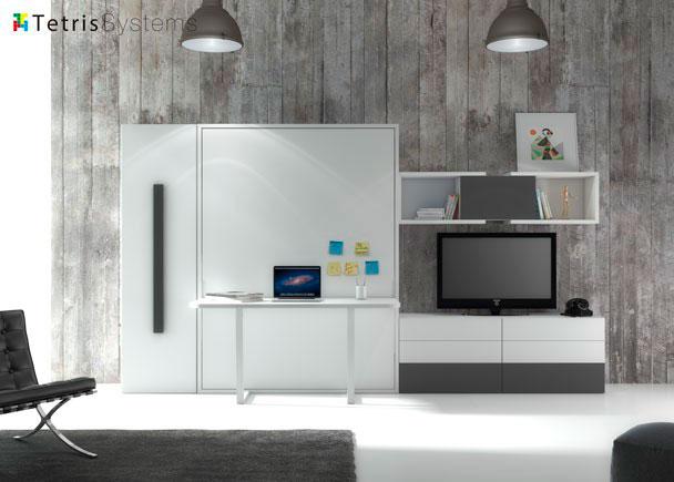 <p>El <strong>sal&oacute;n con cama abatible</strong> y escritorio incorporado, es una de las soluciones de optimizaci&oacute;n de espacio m&aacute;s solicitadas.</p>