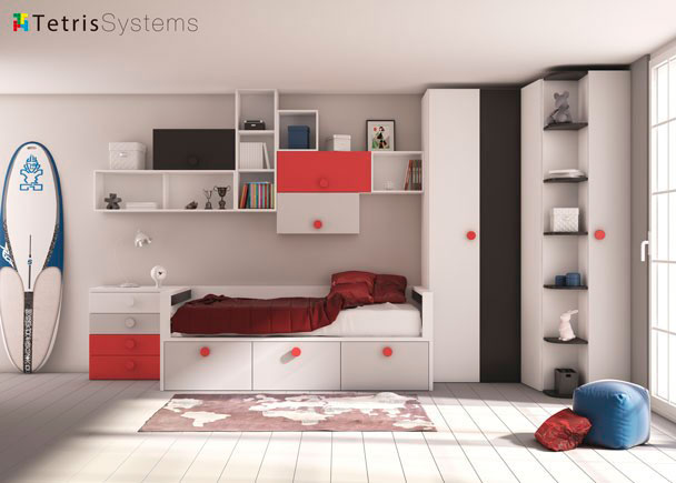 <p>Con la amplia modulaci&oacute;n de la serie 515, podremos confeccionar una cama totalmente a medida que contenga todo lo que necesites guardar.</p>