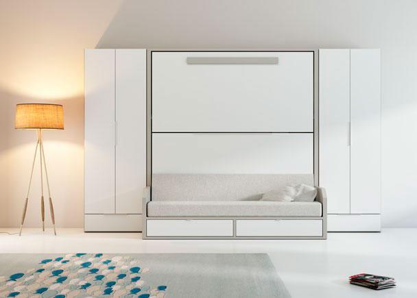 <p>Literas abatibles con sofá VERSATILE + armarios rectos con cajón inferior.</p>