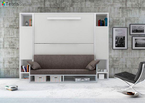 <p>Cama abatible con litera y sofá sincronizado</p>