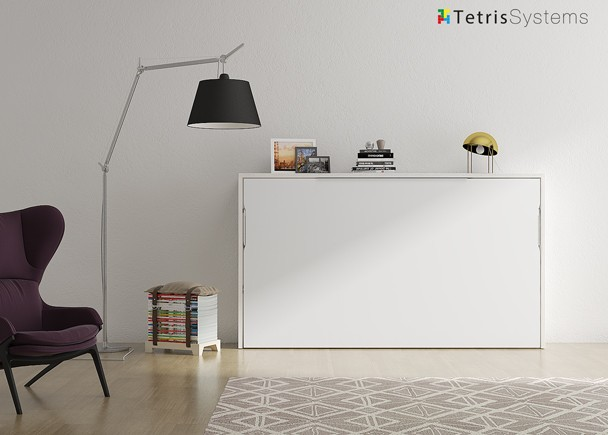 <p>Oportunidad de cama abatible horizontal de cuerpo y medio. Medida de colchón 105 x 190 cm. en color ARTIC y BLANCO.</p>