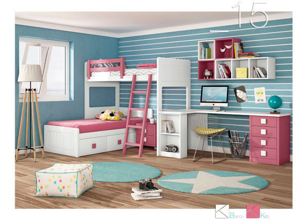 Habitación Infantil Con Litera Tren Rosa Elmenutcom