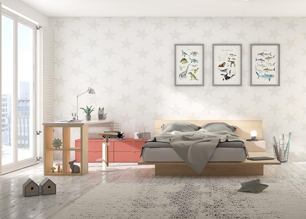 <p>Habitaci&oacute;n para gente joven equipada con una cama Tatami inspirada en la cultura japonesa. Adem&aacute;s podr&aacute;s completar el amueblamiento con todos los elementos que necesites, ya sean armarios, m&oacute;dulos colgantes, esanter&iacute;as o zonas de trabajo con escritorios rectos y de dise&ntilde;o libre, para que puedas personalizar completamente tu casa. Los cajones Tetris disponen de gu&iacute;as de extracci&oacute;n total y soportan hasta 50 kg de peso.&nbsp;&nbsp;Sus gu&iacute;as quedan ocultas y dotadas de cierre con retenci&oacute;n, algo que amortigua los golpes y repercute en la durabilidad de los muebles</p>