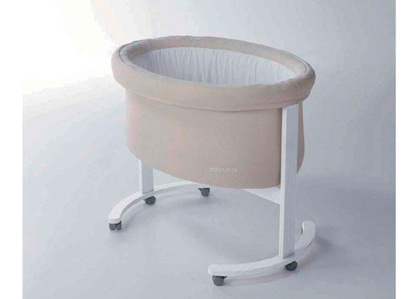 Mini cuna modelo SMART para los primeros meses del bebé. Fabricada en madera de haya y MDF lacado.
