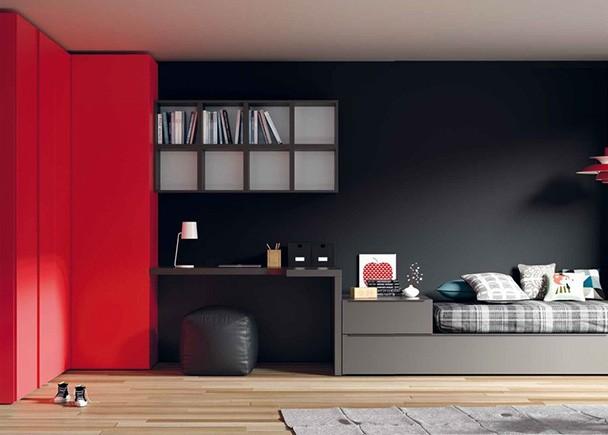 <p>Las Camas Cubo, se adaptan a las medidas de tu espacio, para que puedas organizar separadamente la zona de estudio y la zona de descanso.</p>