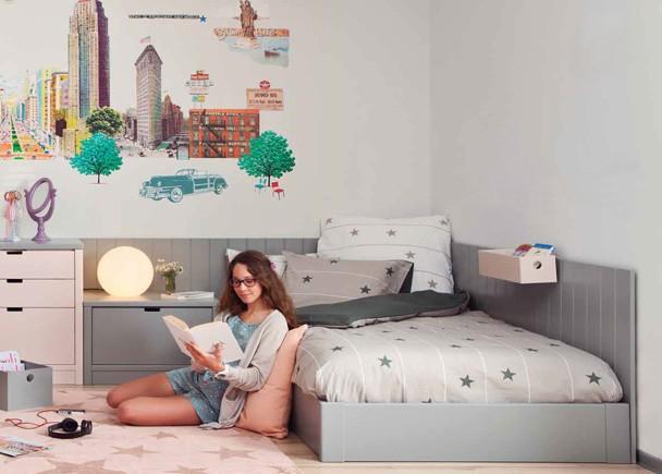 <p>Dormitorio juvenil modular de alta calidad integramente fabricado en madera de haya con lacas texturadas.</p>