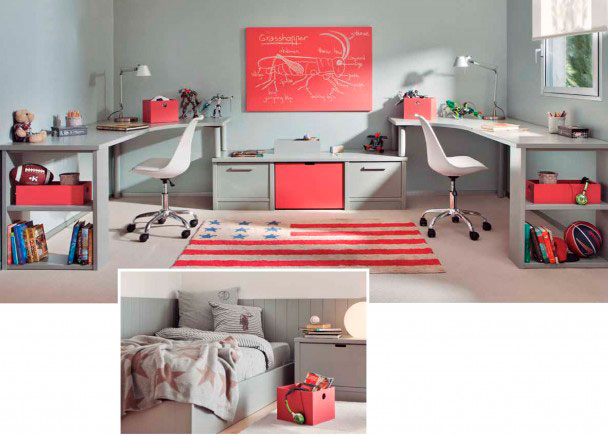 Este mobiliario pertenece a una serie de alta calidad integramente fabricada en madera de haya con lacas texturadas.