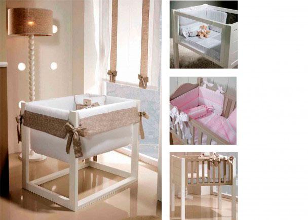 Dormitorio para bebé con Minicuna modelo Ágora, incluye ruedas. Medidas: 81 x 62 x 73 (Solo estructura)