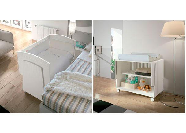 La minicuna COLECHO tiene 11 posiciones que nos permiten regularla a la misma altura que la cama de los padres.