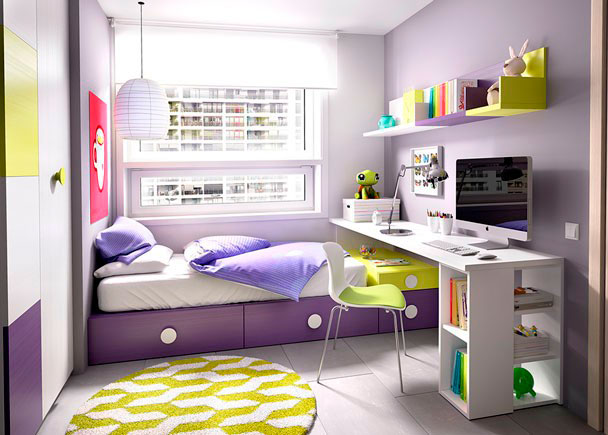 <p>DormitorioJuvenil equipada a base de elementos modulares y apilables.<br />Los elementos que integran la presente composición son los siguientes:<br />-Armario partidor izquierdo de dos cuerpos; uno con estantes y otro con base de altillo + barra de colgar + estante bajo.<br />Medidas: 100 x 220 h x 60 F <br />***NOTA*** <br />Una puerta lisa y una con 4 paneles combinables. Puertas con pulsador<br />-Base de 2 Baúles con ruedas. Medidas: 200 x 30,2 h x 102,6 F<br />-Cajón Contenedor con Ruedas. Medidas: 50 x 102,6 F x 30,2 h<br />-Cajón apilable para componer camas cubo. Medidas: 50 x 15,1 h x 102,6 F.<br />-Soporte rincón para escritorio (Para apilables 45,3 cm h)<br />-Módulo Librería para apoyo de escritorio. Medidas: 35 x 52,5 F x 72 h<br />-Escritorio de sobre Recto. Medidas: 240 x 57 F x 3 cm de espesor.<br />-Estante de pared con Panel. Medidas: 90 x 28,2 F x 33,2 h<br />-Estante de pared con Panel. Medidas: 45 x 28,2 F x 33,2 h<br />-Estante de pared con Panel. Medidas: 35 x 28,2 F x 33,2 h</p>