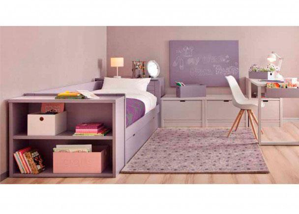 <p>Dormitorio juvenil lacado de alta calidad con Cama Nido modelo COMETA. Integramente fabricado en madera de haya y acabado con lacas texturadas.</p>