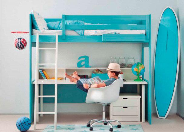 <p>Este modelo es perfecto para espacios reducidos. En una superficie de 200 x 100 podemos disponer de una cama grande para colch&oacute;n de 90 x 190 cm.</p>
