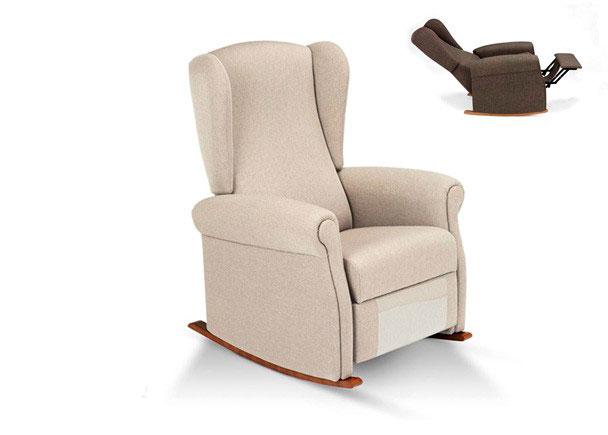 <p>Mecedora relax manual de tres posiciones modelo V-RELAX. Medidas: 83 cm de ancho x 78 de fondo x 103 de altura. La tapicer&iacute;a puede ser de tela o en polipiel.</p>