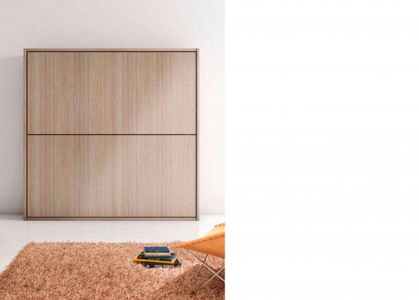 Dormitorio con litera abatible horizontal de215,2 de ancho x 210,6 de altura x 40,5 de fondoLa composición de la fotografia, se ha realizado en los