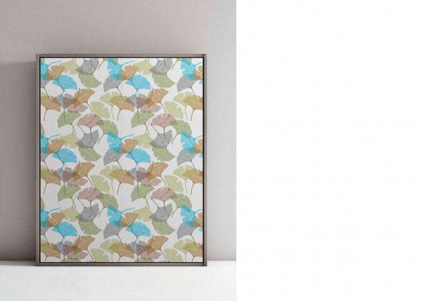 <p>La cama de la fotograf&iacute;a, presenta un acabado estampado floral en color y la caja se ha realizado en acabado Larice Grigio.</p>