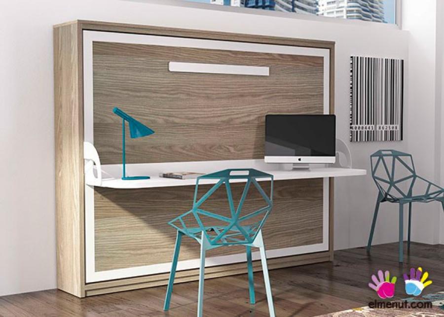 <p>Cama abatible horizontal de matrimonio (modelo Sinkro 35), con escritorio plegable. Medida para colchon de 135 x 190.</p>