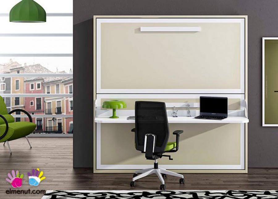 <p>Litera abatible horizontal con escritorio plegable, para colchones de 90 x 190.</p>