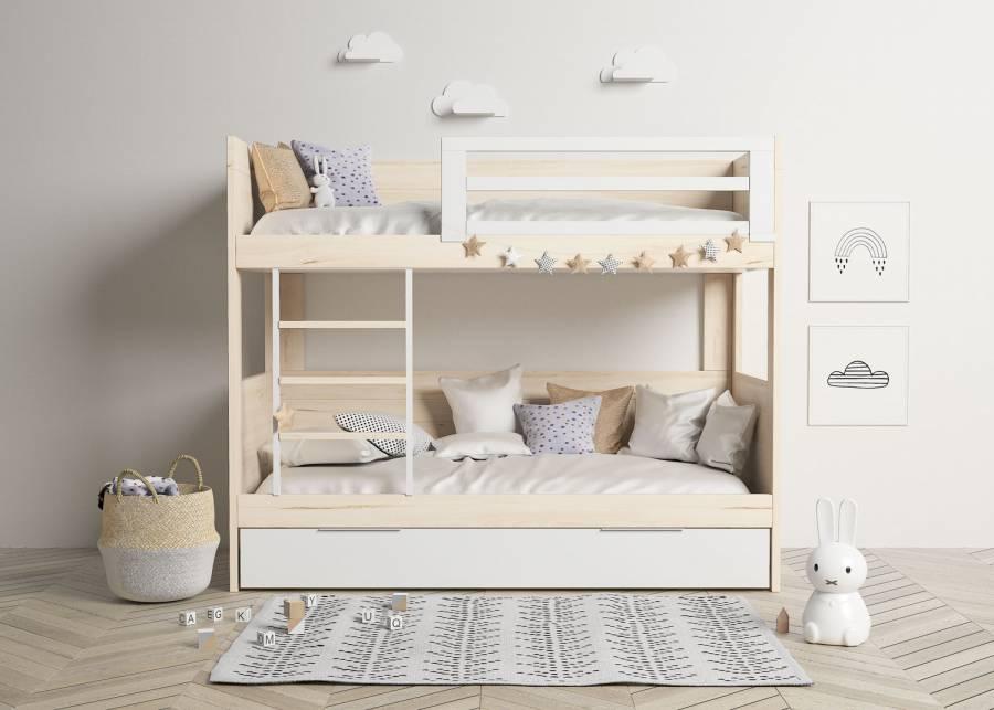 <p>Bonita litera de estilo n&oacute;rdico, ideal para dormitorios infantiles con espacio reducido.&nbsp;</p>