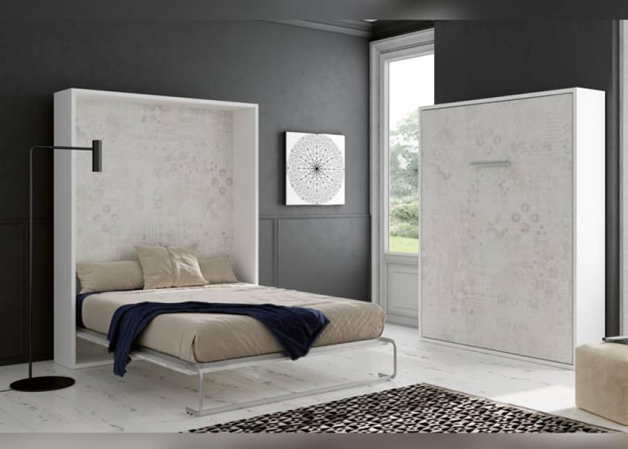 Cama abatible vertical para colchón de 150 x 190. Medida: 207 h x 166 x 34,5 F