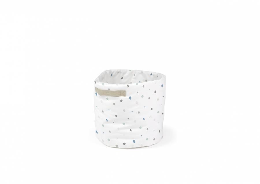 <p>Bonita cesta de almacenamiento plegable de forma cil&iacute;ndrica. El dise&ntilde;o dispone de asas decorativas, y est&aacute; fabricada en algod&oacute;n 100%. Un art&iacute;culo ideal para tener en el ba&ntilde;o, cocina, o cualquier estancia de la casa.</p>