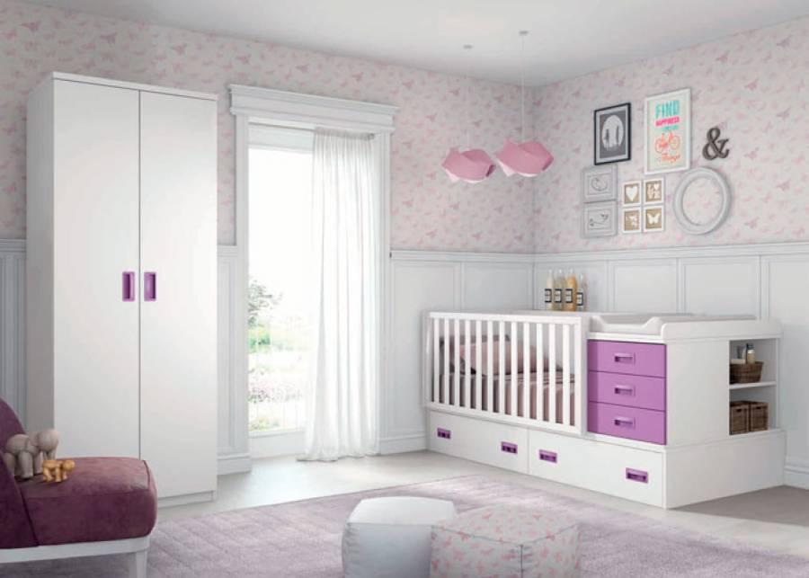 <p>Dormitorio &nbsp;Infantil con cuna + Armario de 2 puertas</p>