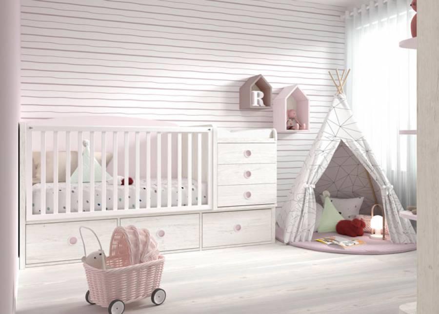 <p>&nbsp;</p> <p>La comodidad de un mueble convertible, es algo que todas las futuras mam&aacute;s deber&iacute;an tener presente, ya que entre las muchas ventajas que nos ofrecen, destacamos el importantisimo hecho de tener solucionado el amueblamiento de la habitaci&oacute;n de tu hijo durante muchos a&ntilde;os.</p> <p>&nbsp;</p> <p><strong>&iexcl;Olvidate tambi&eacute;n de tener que buscar un cambiador, una c&oacute;moda o m&oacute;dulo con cajones para almacenar las muchas cosas que un dormitorio de beb&eacute; necesita!</strong></p> <p>&nbsp;</p> <p>Si piensas en toda su ropita, los aceites, cremas, polvos de talco o los pa&ntilde;ales que tantisimo espacio ocupan, debes saber que un sistema de cuna convertible, tiene previsto todo esto de tal manera, que lo tendr&aacute;s todo c&oacute;modamente a mano en unos m&oacute;dulos muy bien organizados y pensados especificamente para hacerte la vida m&aacute;s f&aacute;cil.</p>