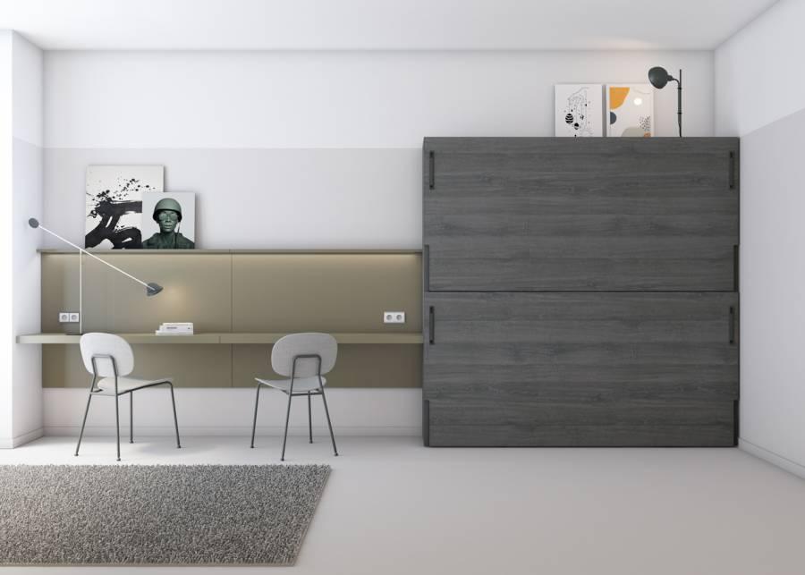 ¡Dormitorio infantil minimalista! Un dormitorio compartido por dos hermanos adolescentes, en el que se ha dado mucha importancia a la sensación de