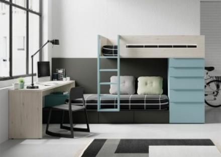 Dormitorios juveniles, infantiles y camas abatibles ...