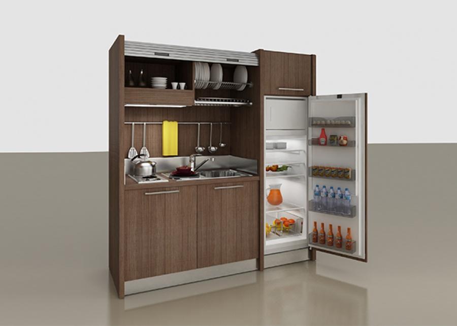 <h2>&iexcl;La minicocina que necesitas!&nbsp;</h2> <p>As&iacute; es, puedes tener una completa cocina donde quieras, con esta completa soluci&oacute;n que te ofrece todo lo que puedas necesitar a la hora de ponerte a cocinar, ocupando lo m&iacute;nimo:<strong> fogones de gas, frigor&iacute;fico de 226 litros de capacidad, fregadero con lavado y escurridor de platos, armarios, y una elegante persiana </strong>con la que ocultarla cuando no la est&eacute;s <strong>usando.</strong>&nbsp; &iquest;Qu&eacute; m&aacute;s le pod&iacute;as pedir?&nbsp;</p>