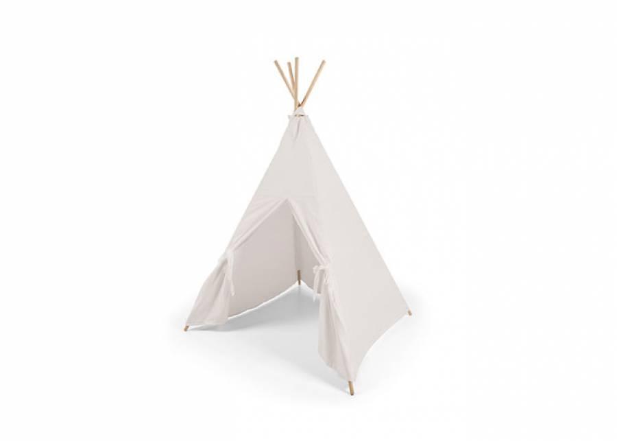 <p>Las <strong>tiendas de tela</strong> o <strong>tipis indios</strong> se han convertido en el complemento de moda para decorar los <strong>dormitorios infantiles</strong>. Una soluci&oacute;n que gusta tanto a ni&ntilde;os como a ni&ntilde;as. El modelo que te proponemos, incluye 4 barras de madera maciza y est&aacute; fabricada en tejido algod&oacute;n 100%. Pon un tipi en su dormitorio y deja que tus hijos hagan tranquilamente el indio!</p>