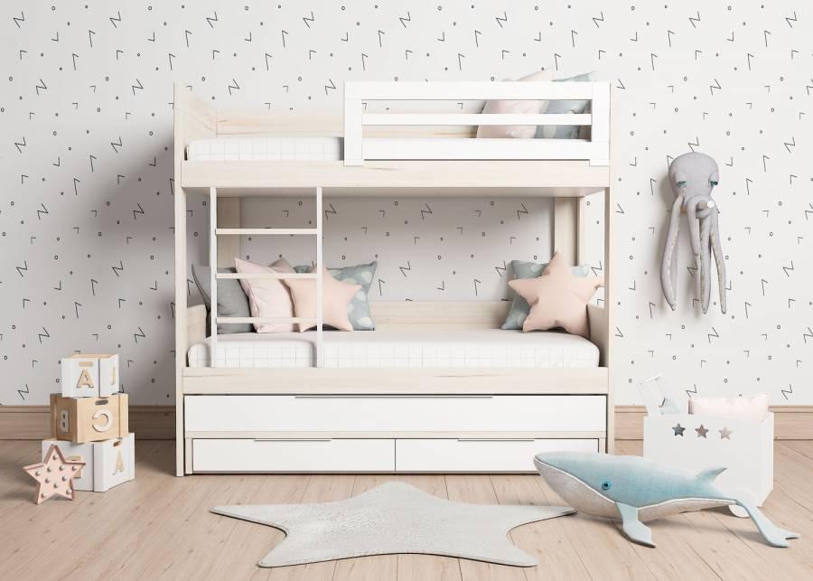 <h3><strong>&iexcl;Tener 3 camas en el espacio que ocupa una sola cama tradicional!</strong></h3> <p>Las ventajas que ofrece el modelo ROMA, te permitir&aacute;n contar con una <strong>cama extra</strong> para cuando se quede a dormir alg&uacute;n amiguito de tus hijos. Respecto a los <strong>detalles que aportan un plus de seguridad extra</strong>, la <strong>litera</strong> cuenta con una <strong>escalerilla entre camas</strong> que actua como soporte esencial, pudiendo estar tranquilos de la solidez y seguridad del producto que te proponemos.</p>