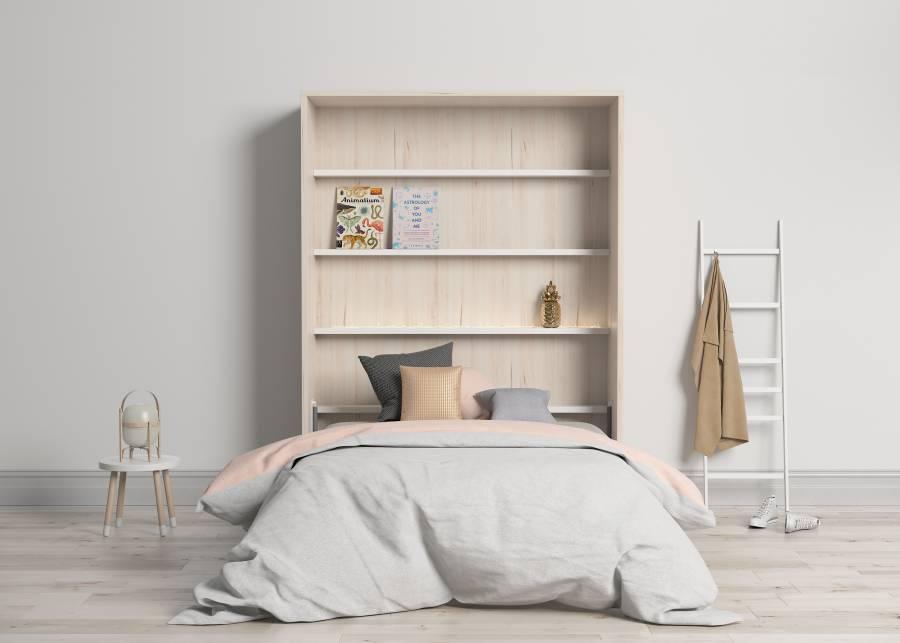 <h3>&iexcl;Las camas abatibles; una soluci&oacute;n funcional, segura y muy atractiva!</h3> <p>Adem&aacute;s de ofrecer una mayor sensaci&oacute;n de amplitud en el <strong>dormitorio</strong>, sal&oacute;n u oficina, las <strong>camas</strong> que te proponemos a trav&eacute;s de elmentut, te encantar&aacute;n por su pureza de lineas y su cuidado dise&ntilde;o, pensado para que se integren perfectamente en cualquier estilo decorativo, ya sea para un uso continuado o como punto de descanso auxiliar. Especialmente recomendadas para mantener visiblemente el orden en los <strong>dormitorios</strong> <strong>infantiles y juveniles</strong>.</p>