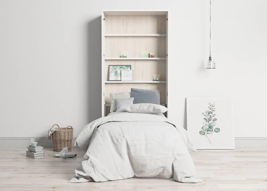 <h3><strong>&iexcl;Invitados de lujo!&nbsp;</strong></h3> <p>A todos nos gusta que nuestros invitados se sientan como en casa, y esta<strong> cama abatible</strong> es la mejor opci&oacute;n para ello. <strong>Sin importar el espacio libre que tengas</strong>, en un solo gesto podr&aacute;s montar un dormitorio igual de confortable que cualquier otro, en la estancia que tu lo desees.&nbsp;</p>