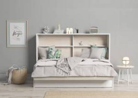 Cama abatible horizontal con sofá y nido 105 x 190 cm