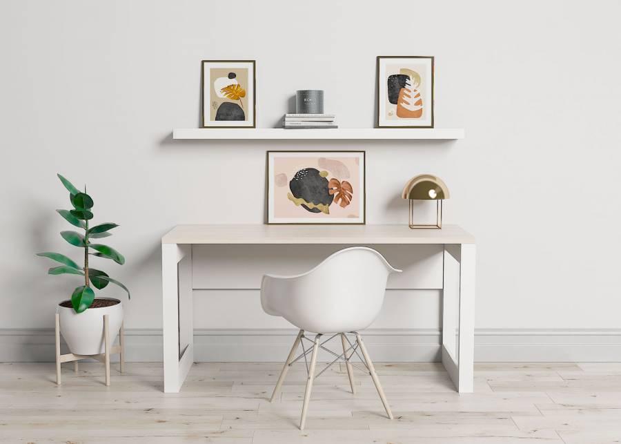<h3><strong>&iexcl;Concentraci&oacute;n con estilo!&nbsp;</strong></h3> <p>Estamos enamorados de este escritorio de <strong>estilo escandinavo</strong>, que le dar&aacute; un<strong> toque elegante y profesional</strong> a tu estudio o dormitorio. Tener un lugar dedicado al <strong>home office</strong> en casa es fundamental, y que sea acogedor tambi&eacute;n.&nbsp;</p>