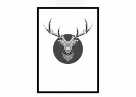 Cuadro decorativo NEER con marco negro 44 x 62